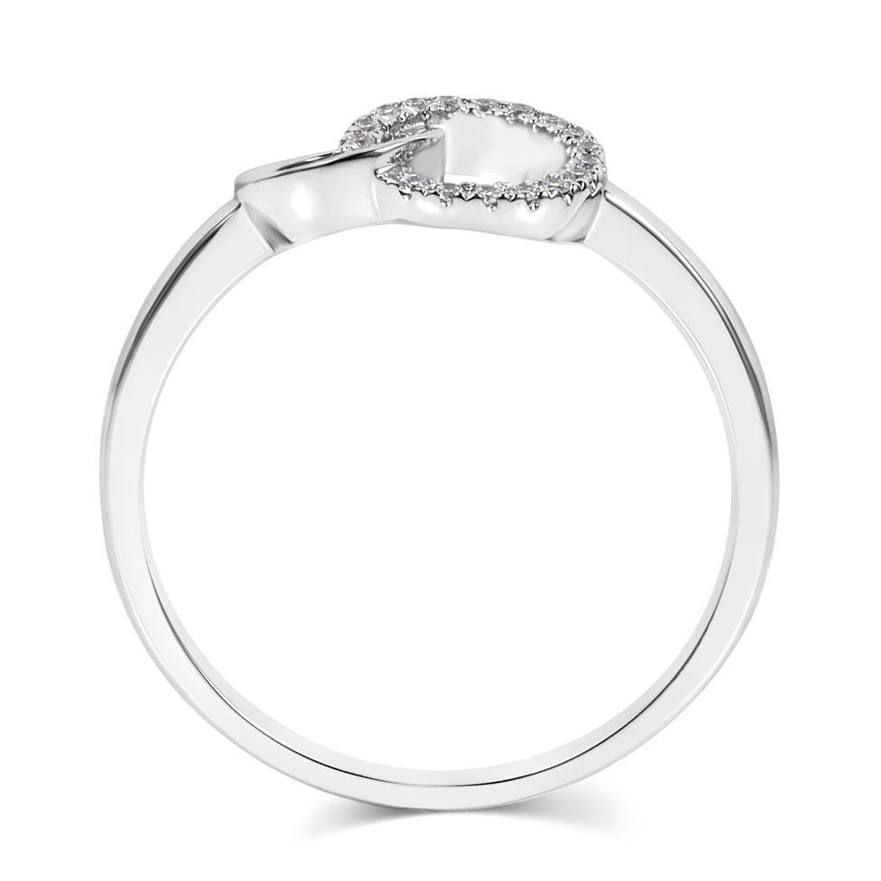 Union 18ct White Gold Diamond Dress Ring 0.06ct Thumbnail Image 2