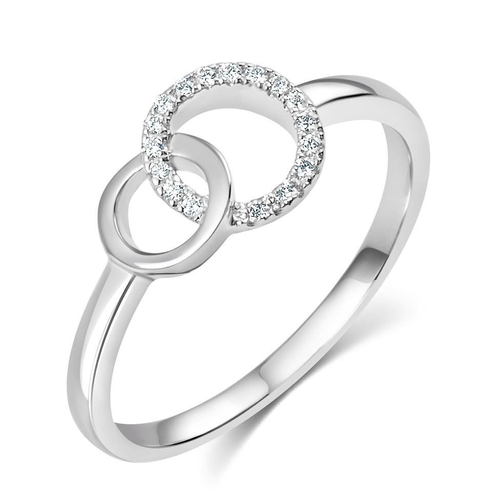 Union 18ct White Gold Diamond Dress Ring 0.06ct Thumbnail Image 0