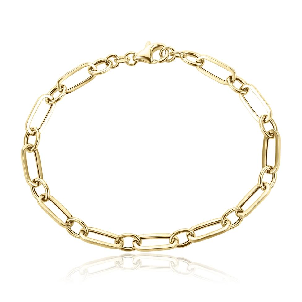 18ct Yellow Gold Paperlink Chain Bracelet Thumbnail Image 0