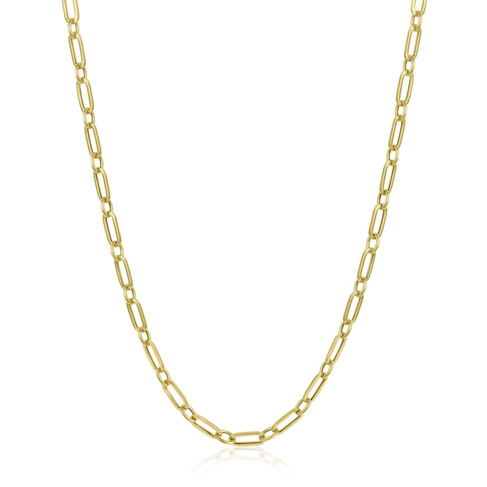 18ct Yellow Gold Paperlink Chain Necklace Thumbnail Image 0