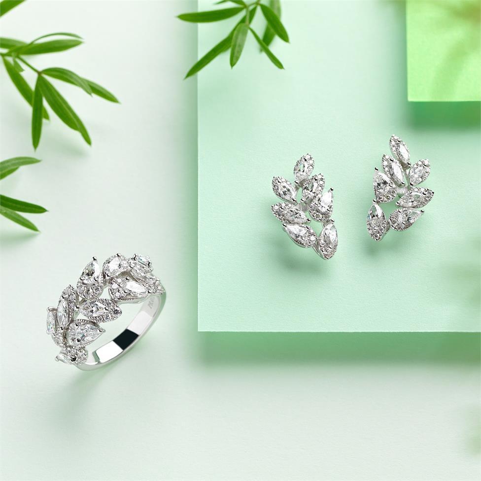 Eden 18ct White Gold Diamond Dress Ring 1.63ct Thumbnail Image 2