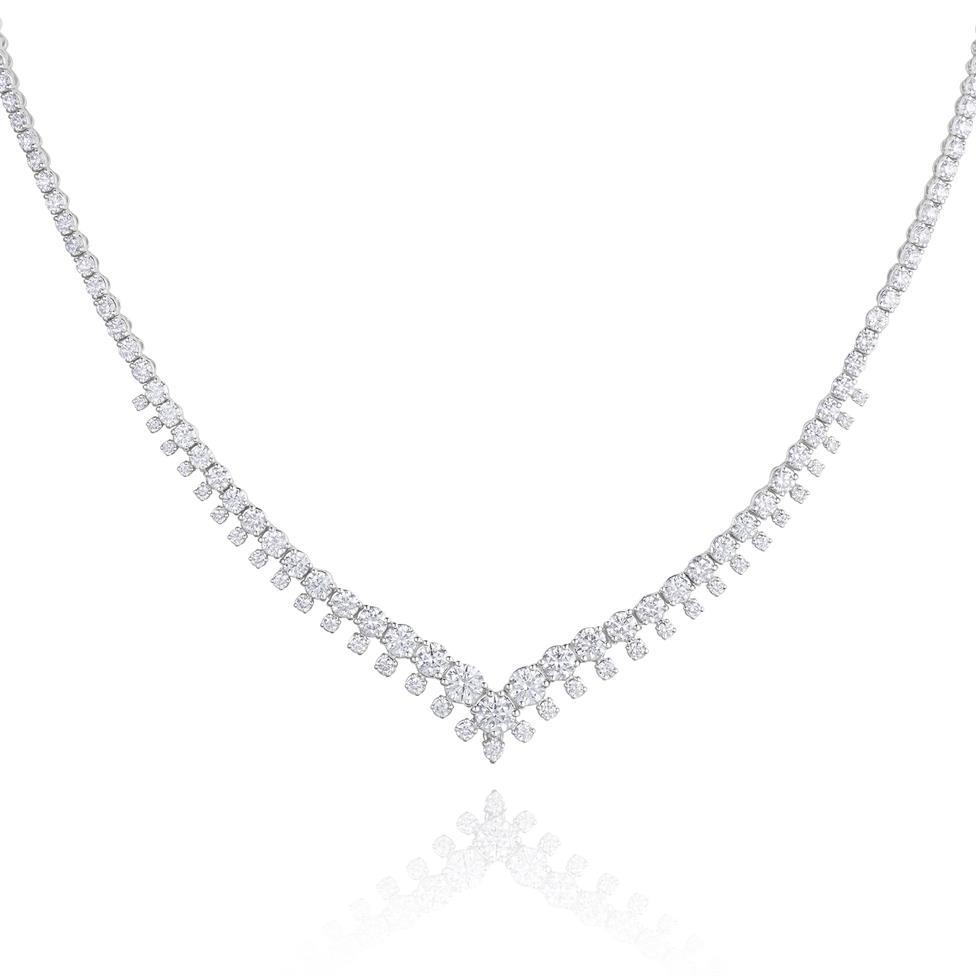 18ct White Gold Diamond Necklace 4.92ct Thumbnail Image 0