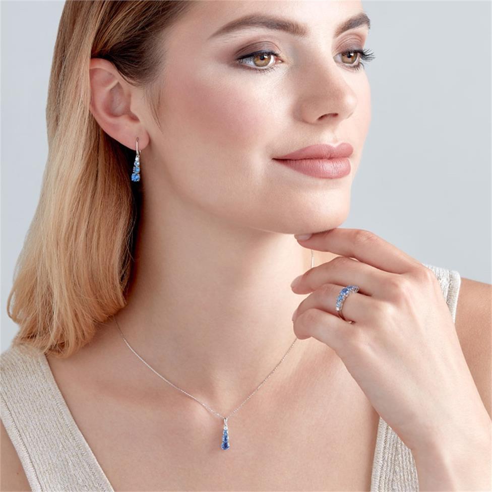 Bonbon 18ct White Gold Sapphire and Diamond Dress Ring Thumbnail Image 1