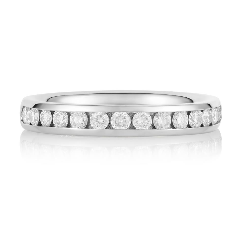 Platinum Diamond Half Eternity Ring 0.45ct Thumbnail Image 1