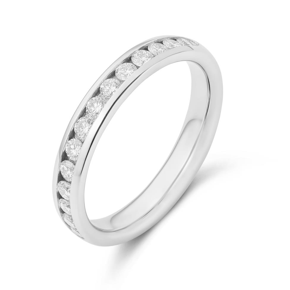 Platinum Diamond Half Eternity Ring 0.45ct Image 1