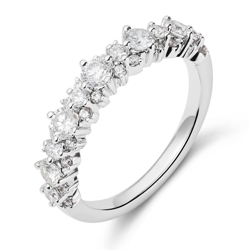 18ct White Gold Diamond Dress Ring 0.75ct Thumbnail Image 0