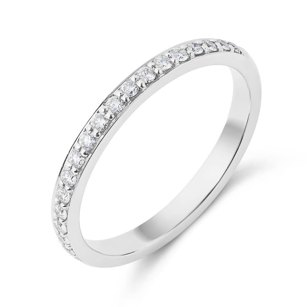Platinum Diamond Half Eternity Ring 0.20ct Thumbnail Image 0