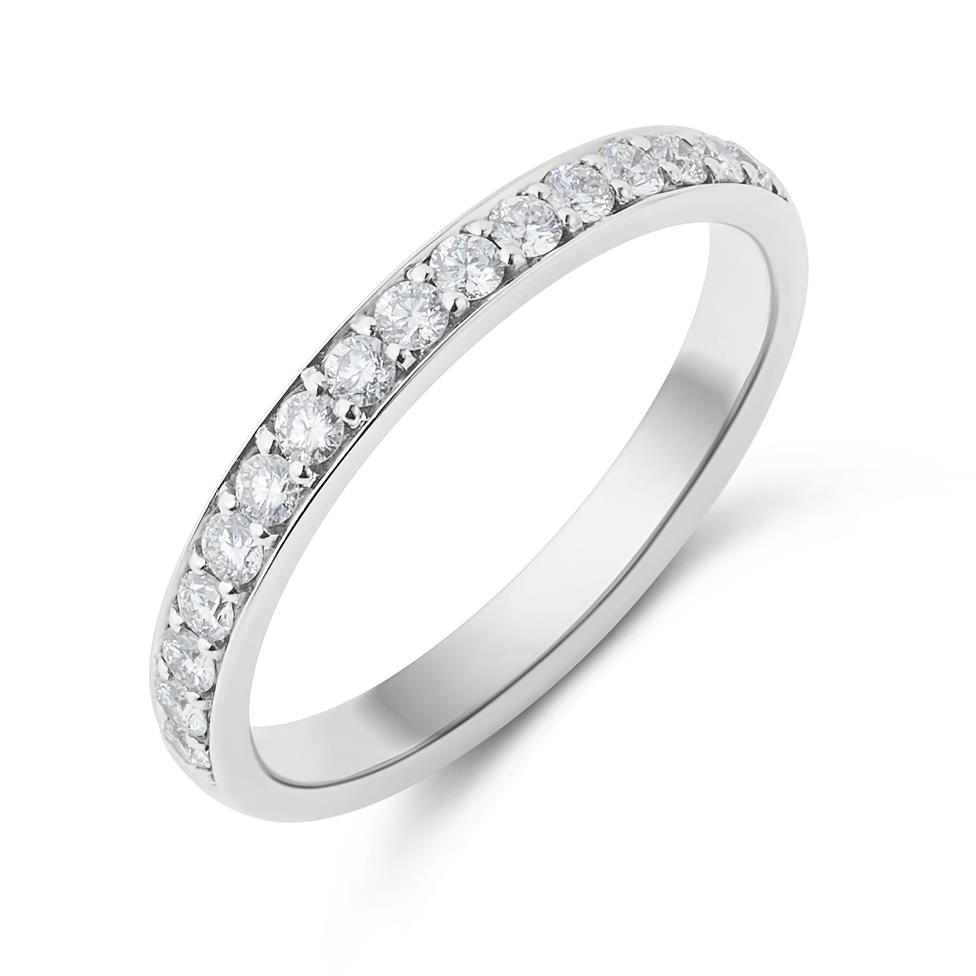 Platinum Brilliant Cut Pave Set Diamond Ring Thumbnail Image 0