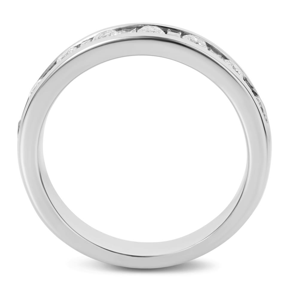 Platinum Alternating Baguette Cut Diamond Half Eternity Ring 0.50ct Thumbnail Image 3