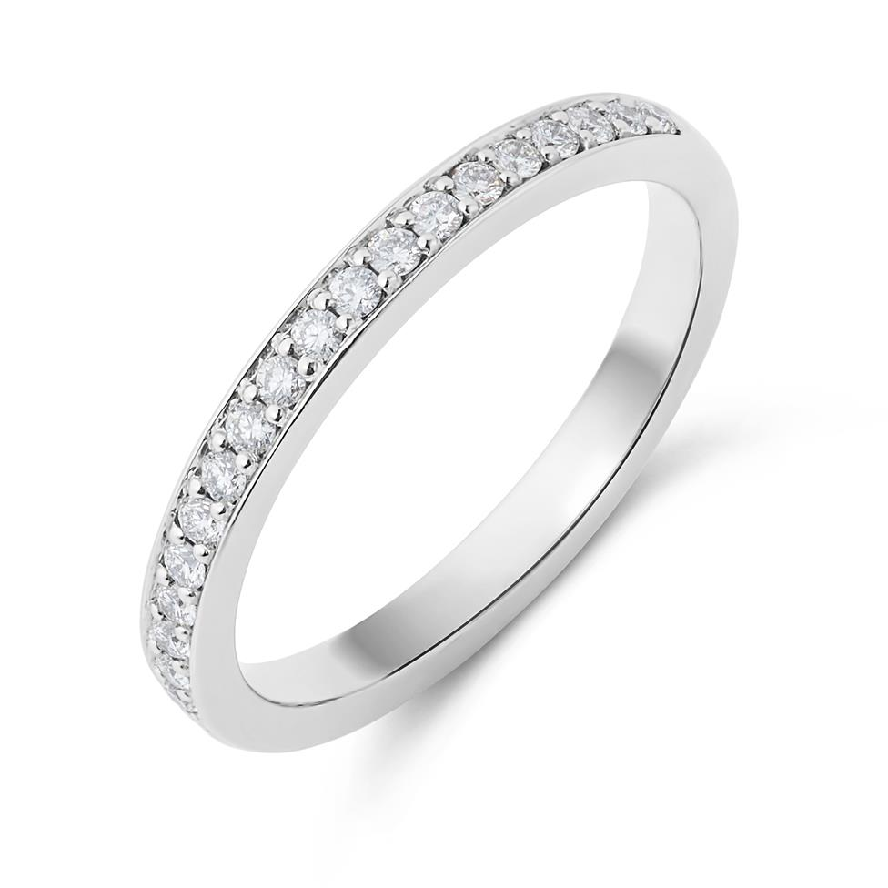 Platinum Brilliant Cut Diamond Grain Set Ring Thumbnail Image 0