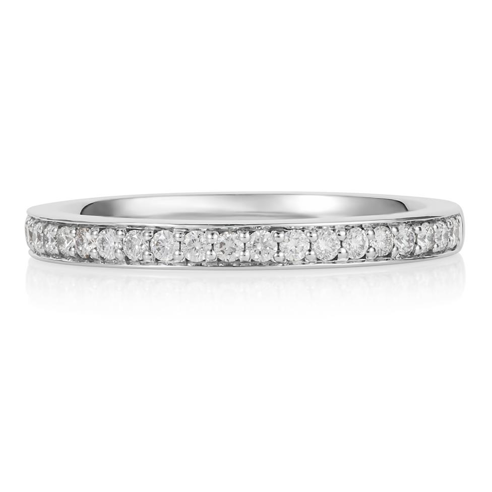 Platinum Brilliant Cut Diamond Grain Set Ring Thumbnail Image 2