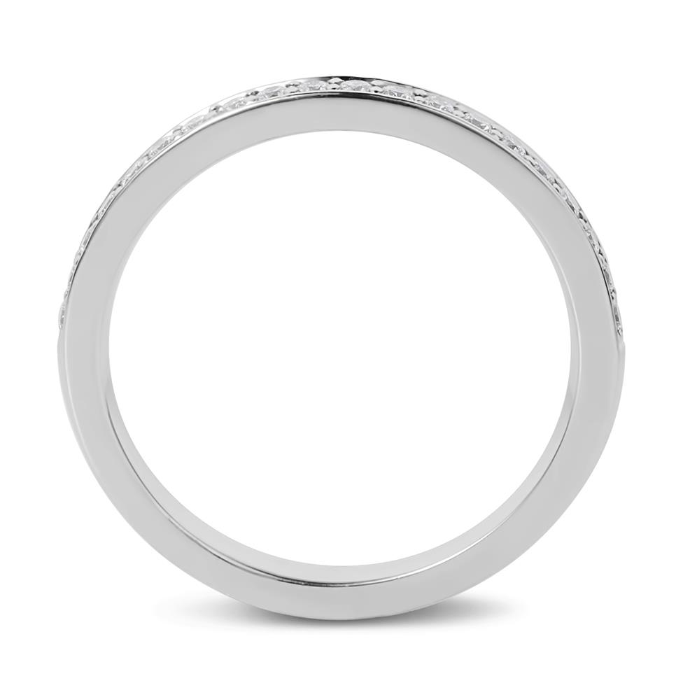 Platinum Brilliant Cut Diamond Grain Set Ring Thumbnail Image 3