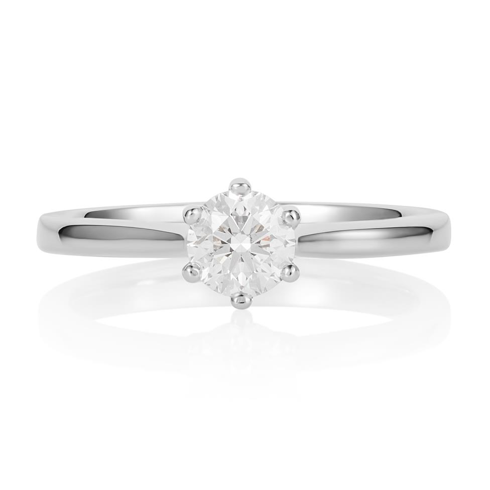 Platinum Six Claw 0.50ct Diamond Solitaire Ring Thumbnail Image 0