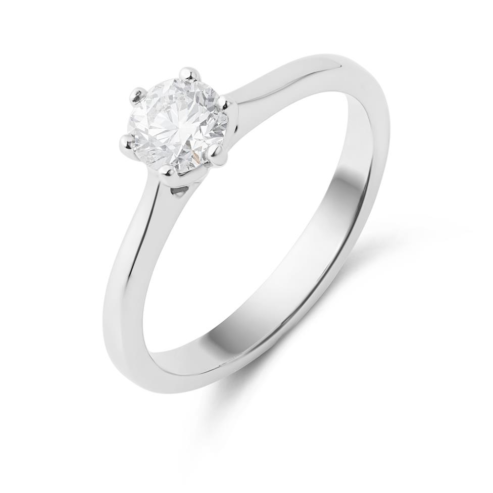 Platinum Six Claw 0.50ct Diamond Solitaire Ring Thumbnail Image 1