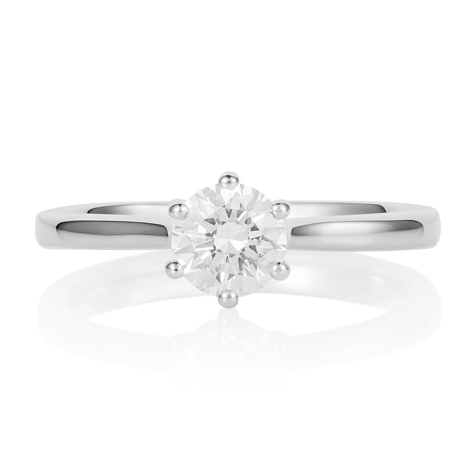 Platinum Six Claw Design Diamond Solitaire Engagement Ring 0.70ct Thumbnail Image 2