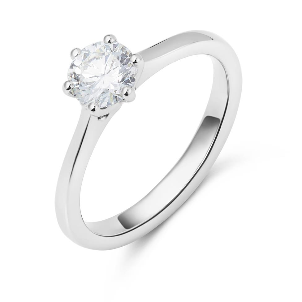 Platinum Six Claw Design Diamond Solitaire Engagement Ring 0.70ct Thumbnail Image 0