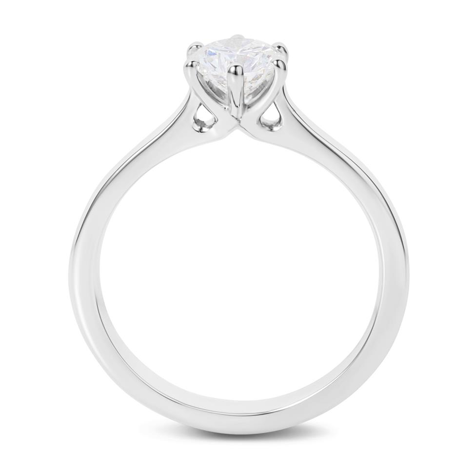 Platinum Six Claw Design Diamond Solitaire Engagement Ring 0.70ct Thumbnail Image 3