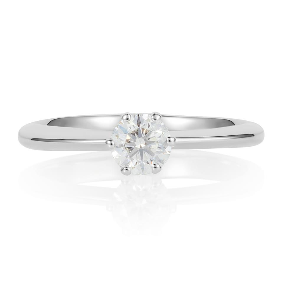 Platinum Six Claw 0.40ct Diamond Solitaire Ring Thumbnail Image 0
