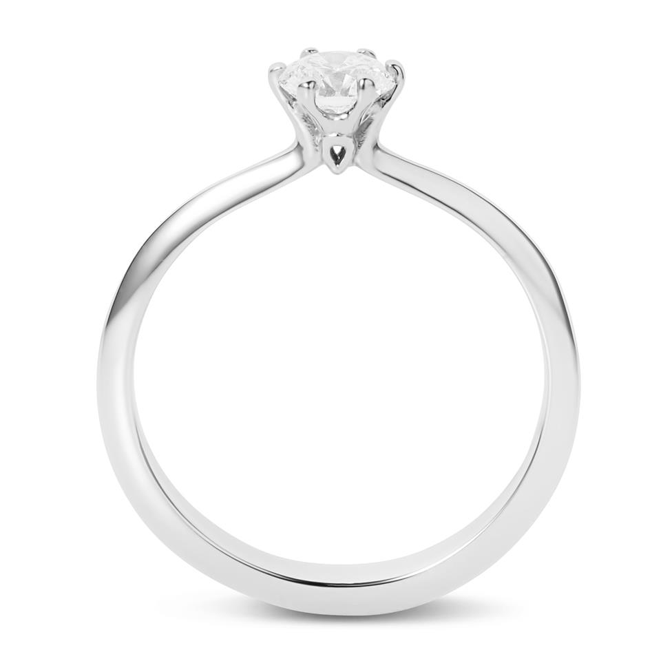 Platinum Six Claw 0.40ct Diamond Solitaire Ring Thumbnail Image 2