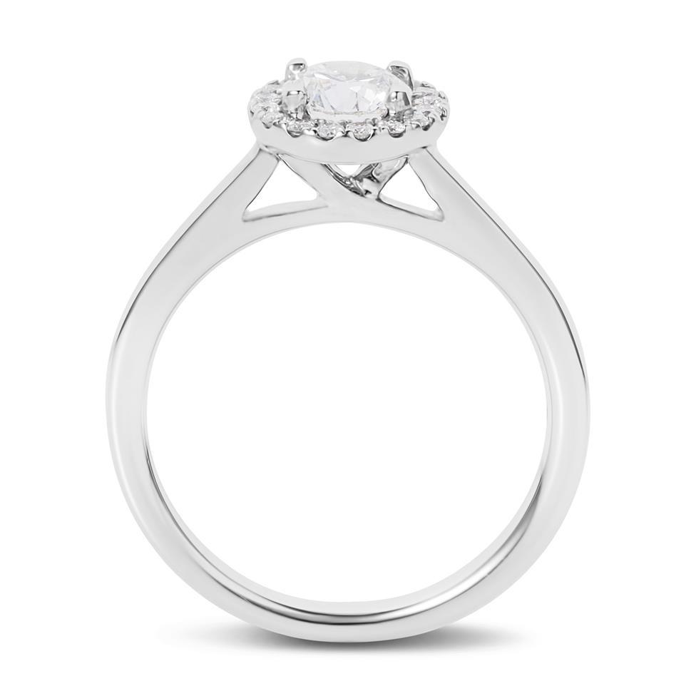 Platinum Diamond Halo Engagement Ring 0.70ct Thumbnail Image 2
