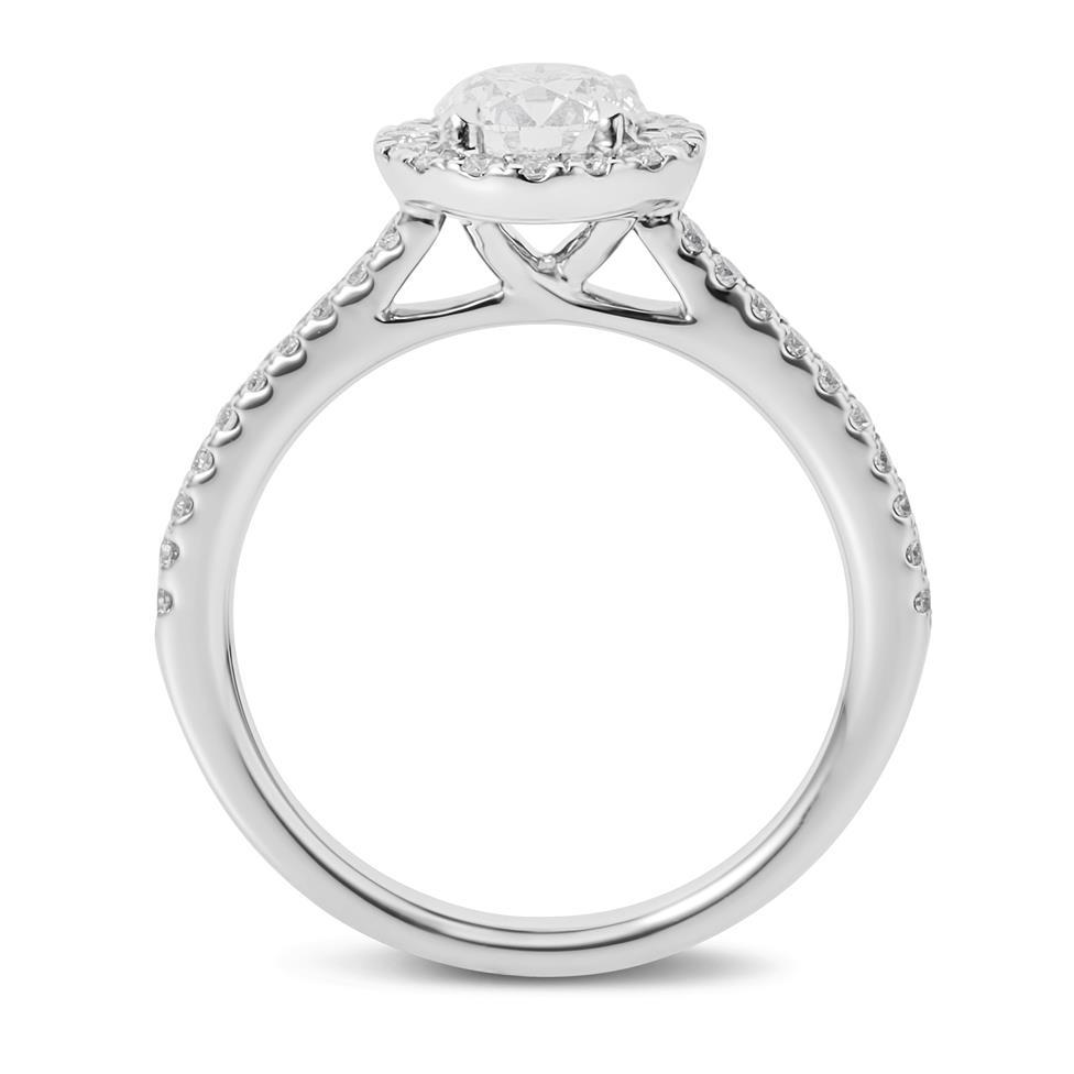 Platinum Diamond Halo Engagement Ring 1.05ct Thumbnail Image 2