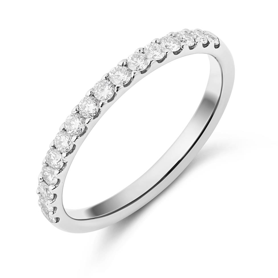 Platinum 0.33ct Diamond Ring Image 1