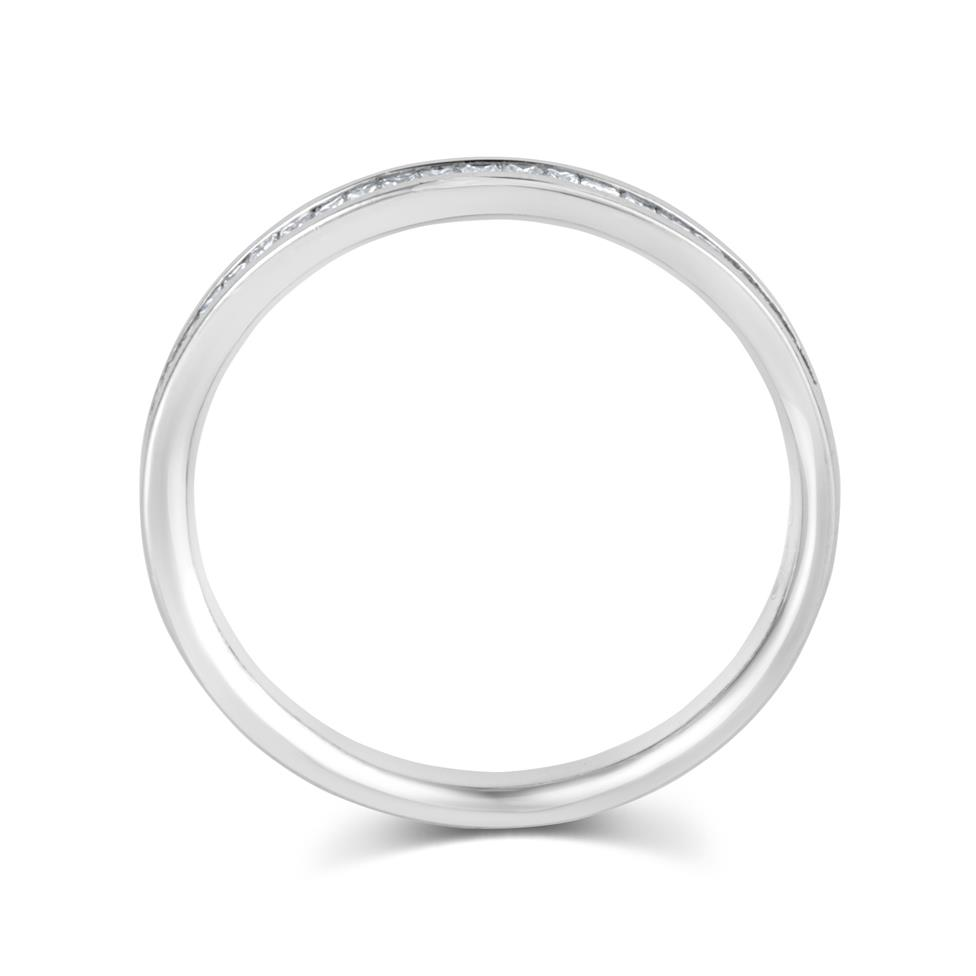 Platinum Princess Cut 0.25ct Diamond Half Channel Ring Thumbnail Image 2