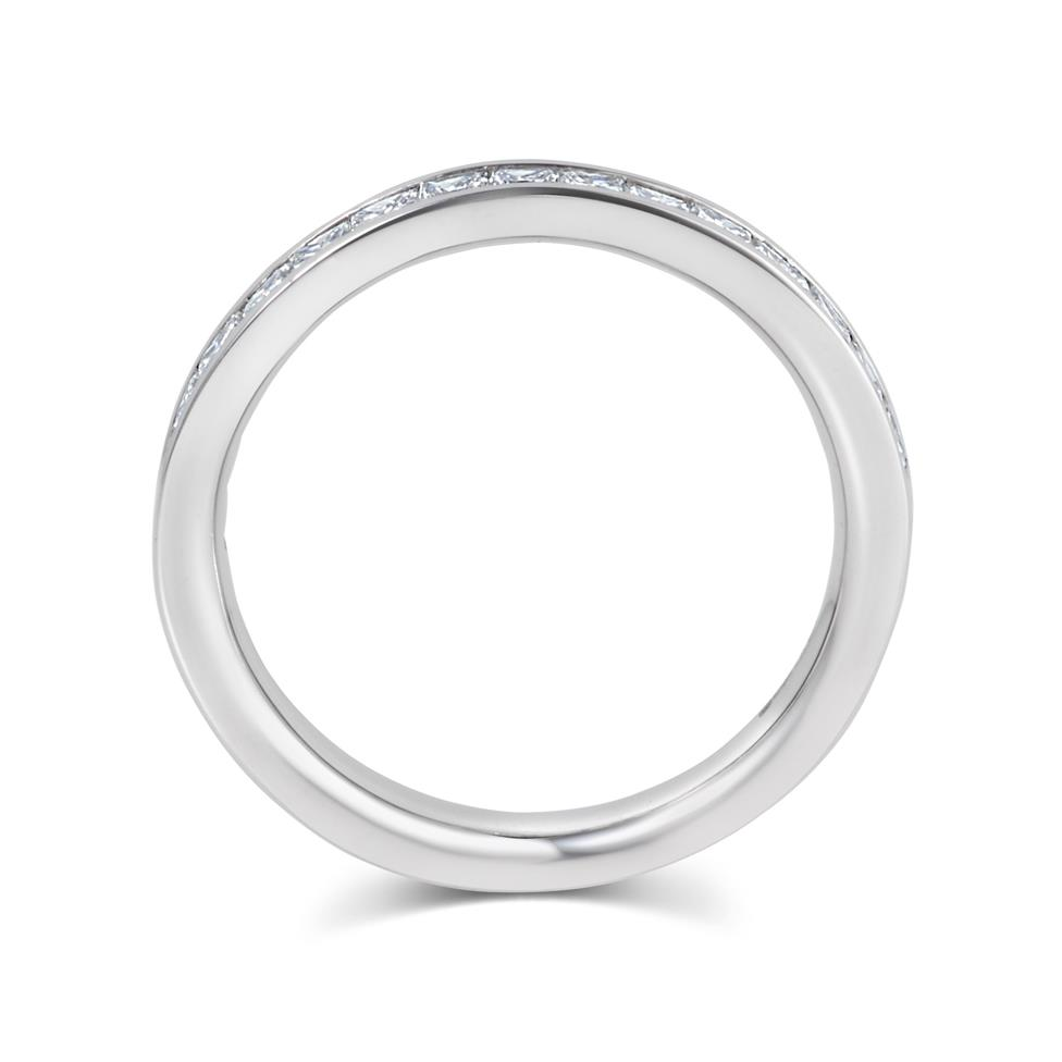 Platinum Princess Cut 0.75ct Diamond Half Channel Ring Thumbnail Image 2