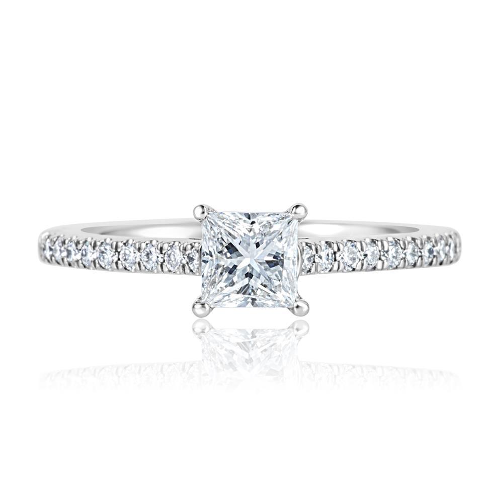 Platinum Princess Cut Diamond Solitaire Engagement Ring 0.75ct Thumbnail Image 1
