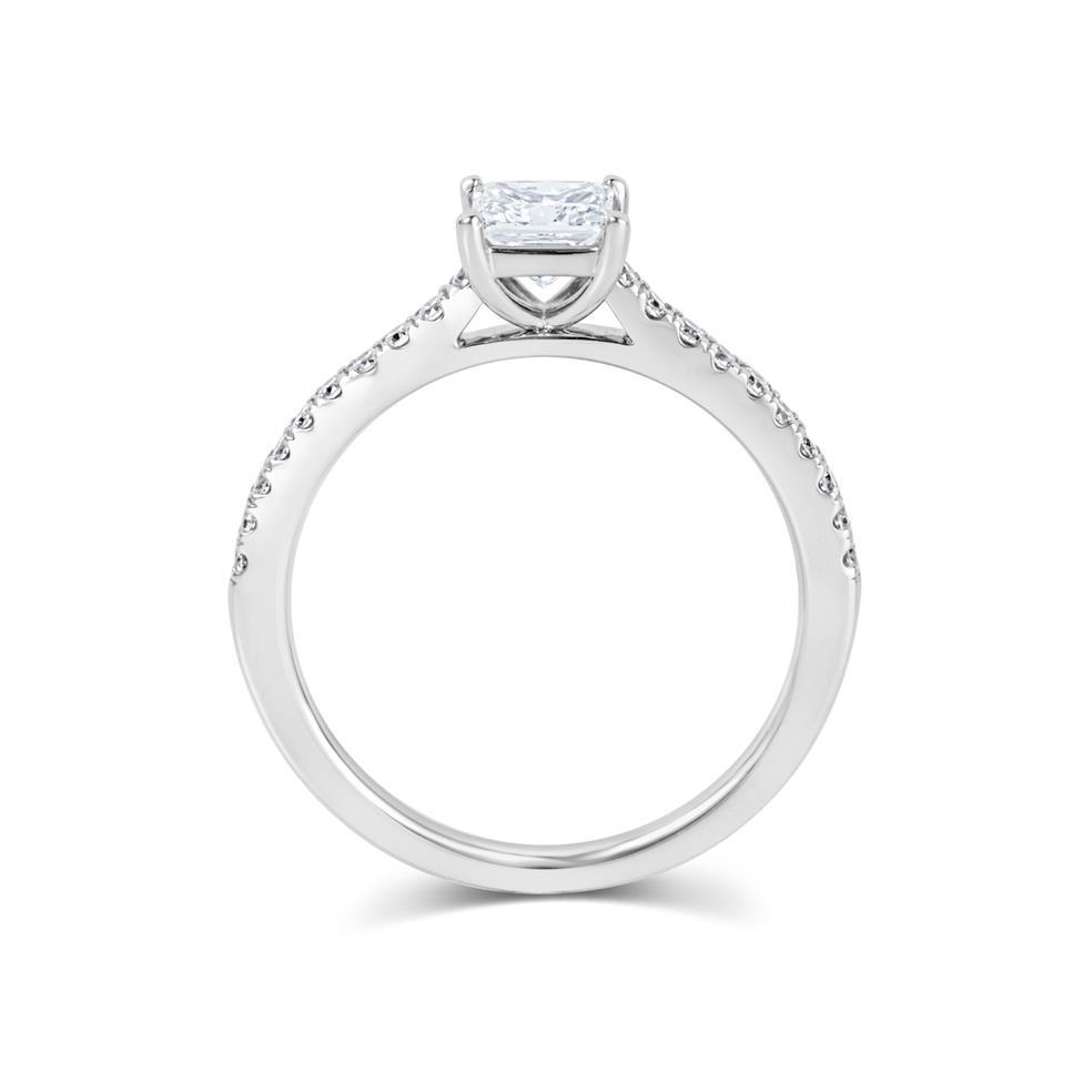 Platinum Princess Cut Diamond Solitaire Engagement Ring 0.75ct Thumbnail Image 2