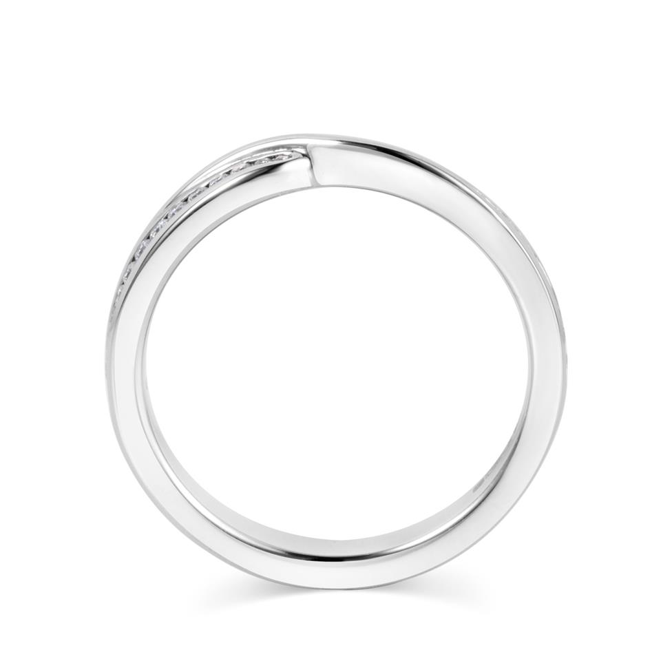 Platinum Crossover Diamond Ring Thumbnail Image 2