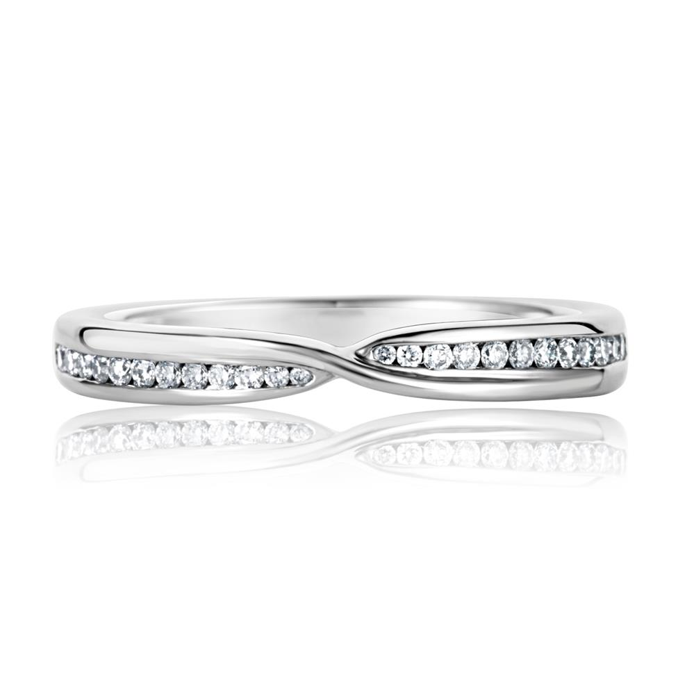 Platinum Crossover Diamond Ring Thumbnail Image 1