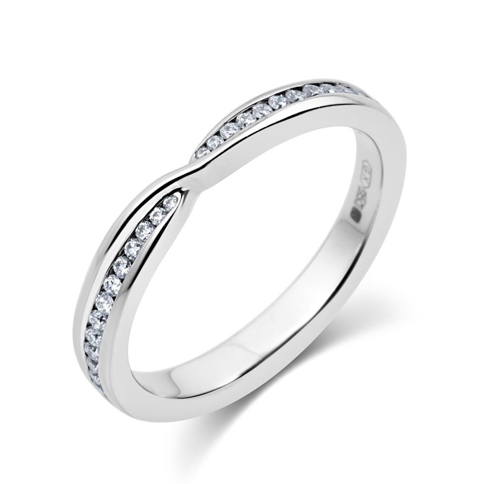 Platinum Crossover Diamond Ring Thumbnail Image 0