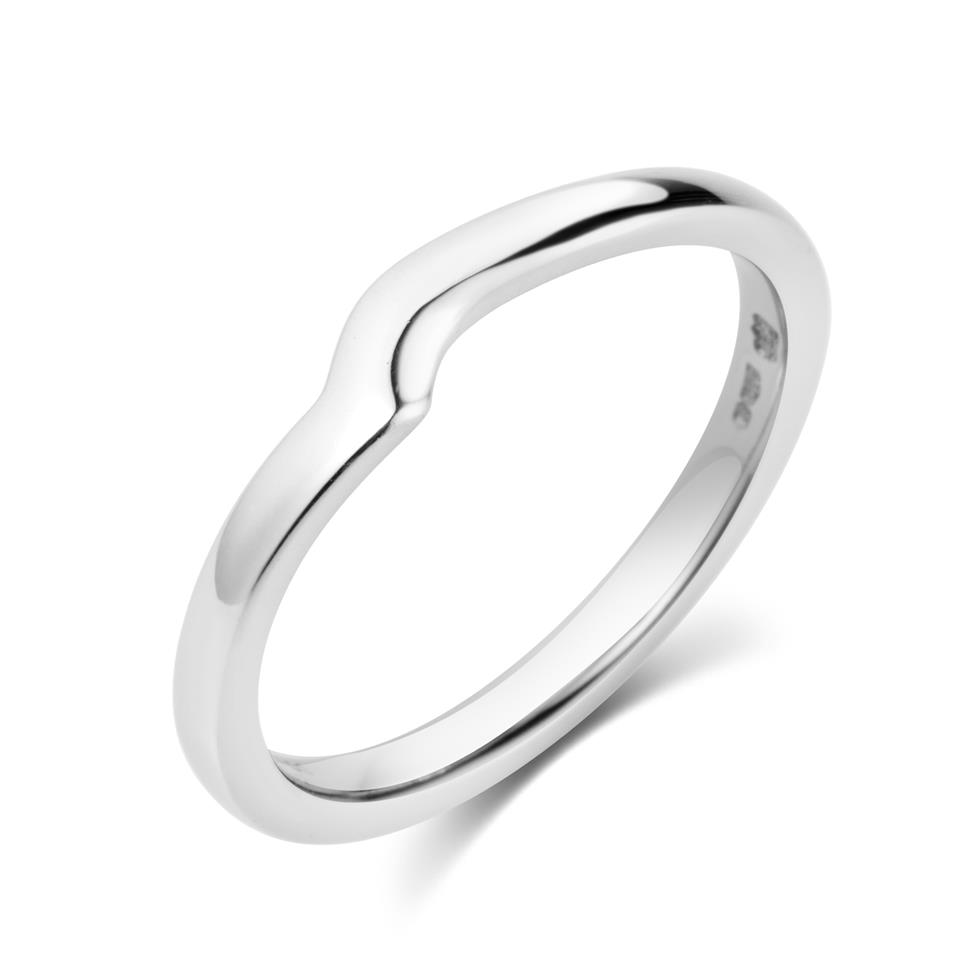 Platinum Plain Shaped Ring Image 1