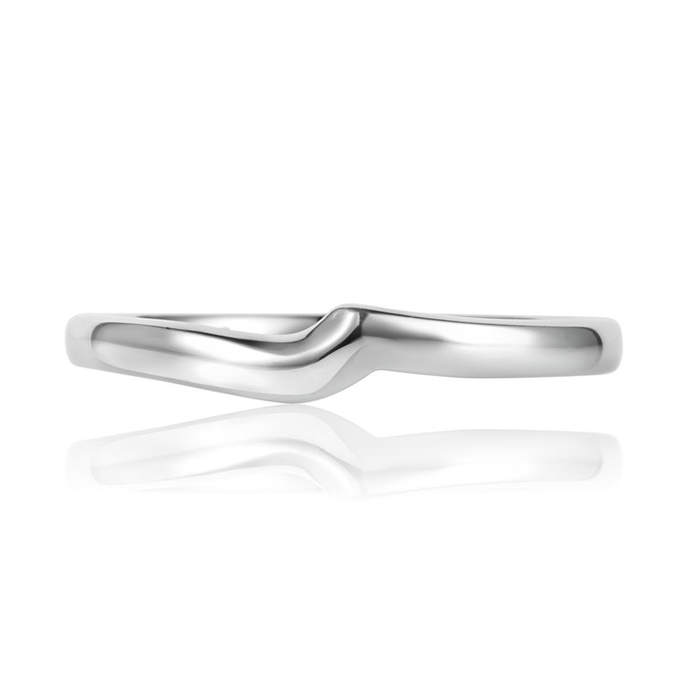 Platinum Plain Shaped Ring Thumbnail Image 1