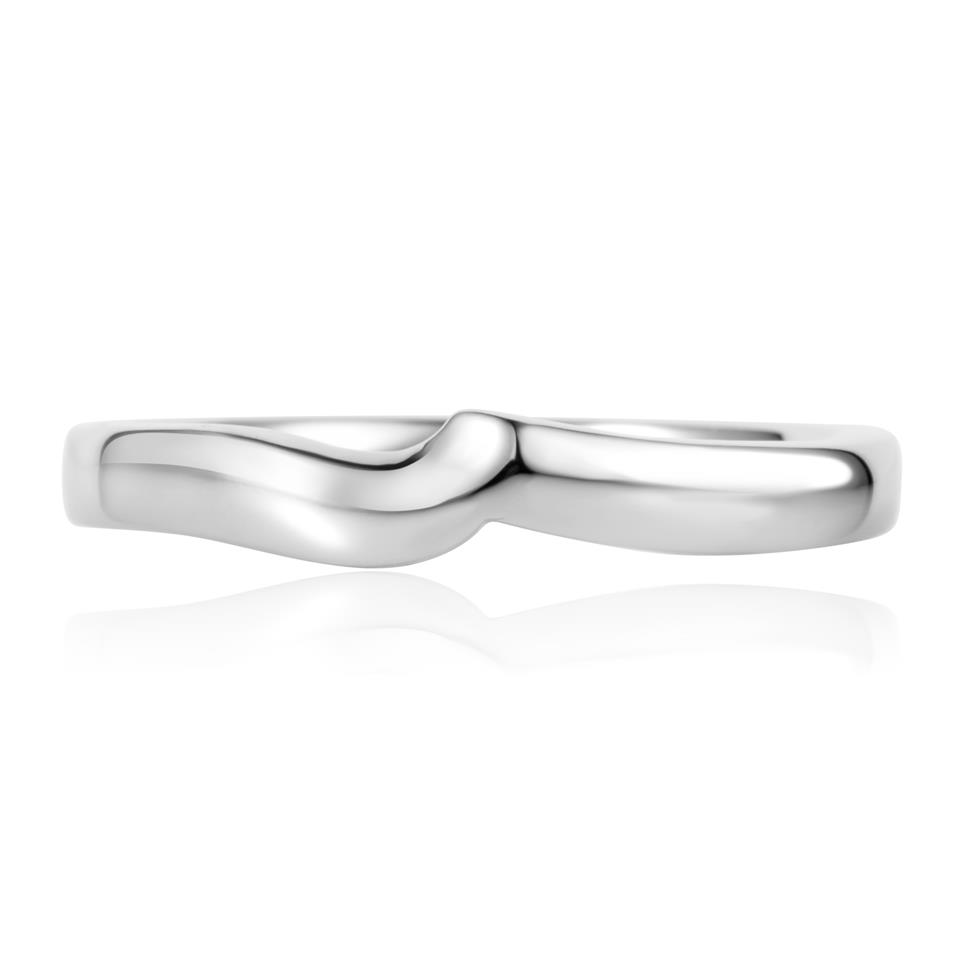Platinum Shaped Wedding Ring Thumbnail Image 1