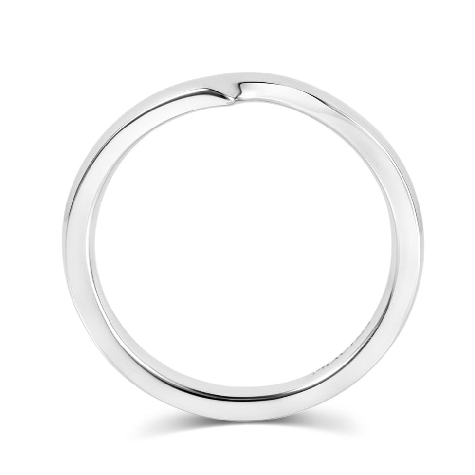 Platinum Shaped Wedding Ring Thumbnail Image 2
