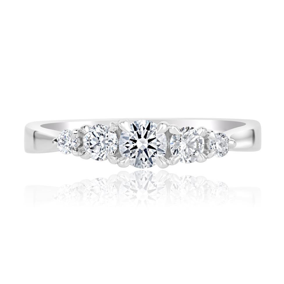 Platinum Five Stone Diamond Engagement Ring 0.50ct Thumbnail Image 1
