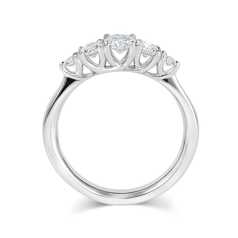Platinum Five Stone Diamond Engagement Ring 0.50ct Thumbnail Image 2