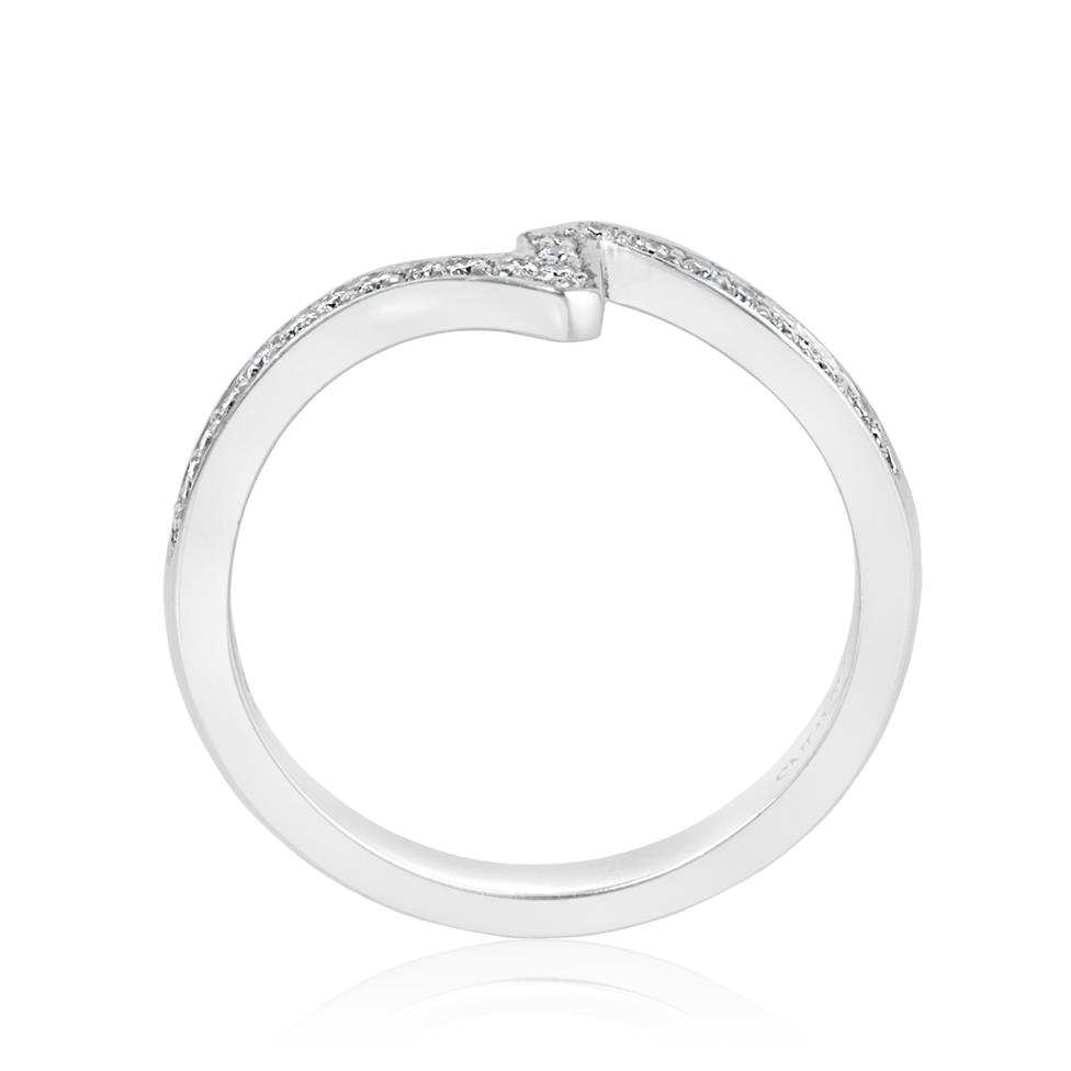 Platinum Diamond Channel Set Shaped Ring Thumbnail Image 2