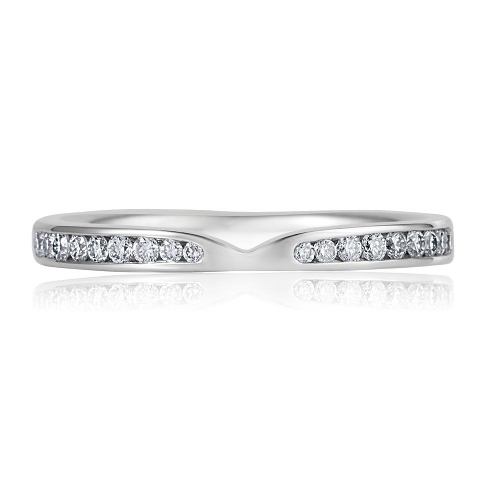 Platinum Diamond Set Wedding Ring 0.25ct Thumbnail Image 1