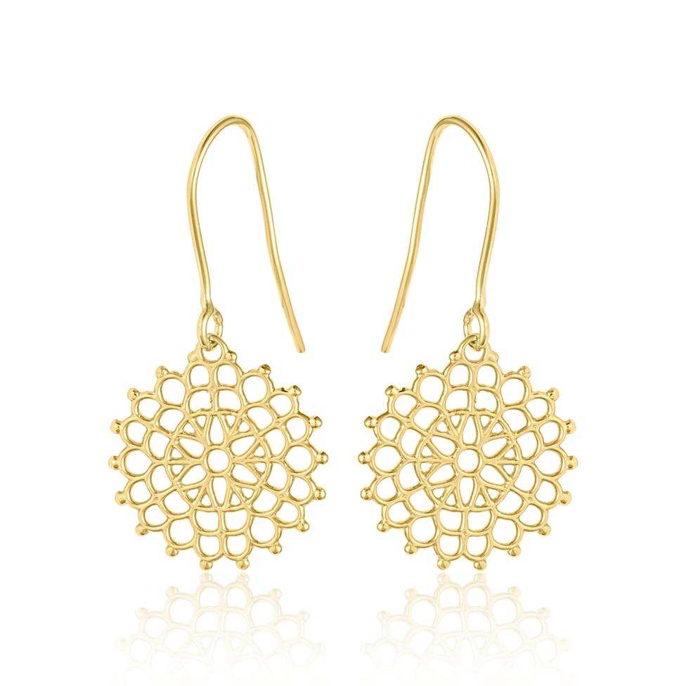 Element 18ct Yellow Gold Drop Earrings Thumbnail Image 0