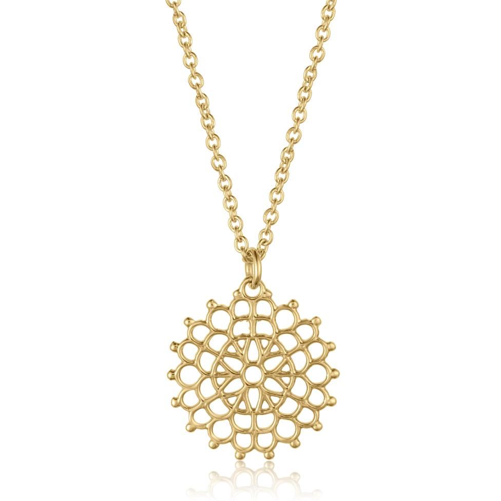 Element 18ct Yellow Gold Necklace 13.5mm Thumbnail Image 0