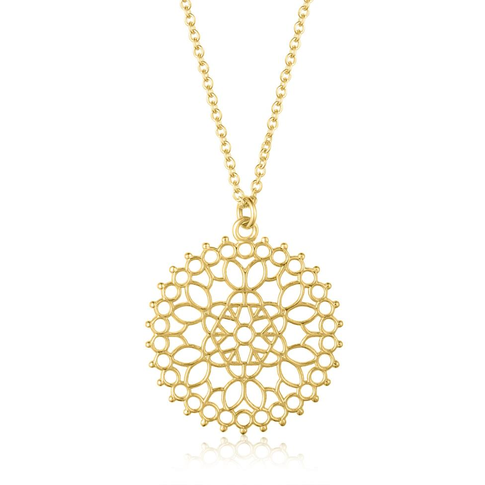 Element 18ct Yellow Gold Necklace 20.5mm Thumbnail Image 0
