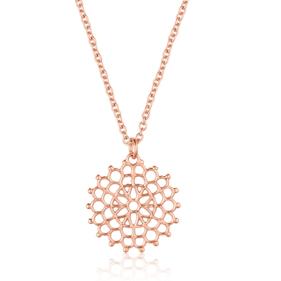 Element 18ct Rose Gold Necklace 13.5mm Thumbnail Image 0