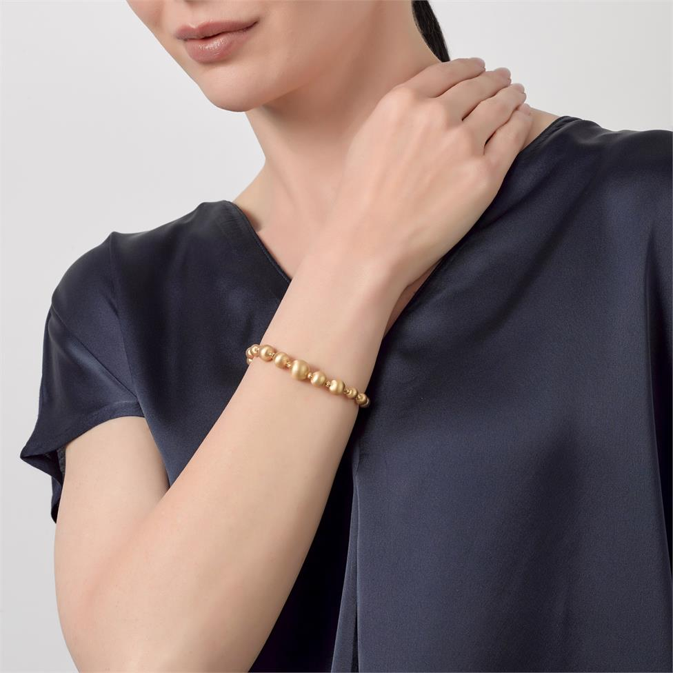 Milano 18ct Yellow Gold Satin Finish Bracelet Thumbnail Image 2