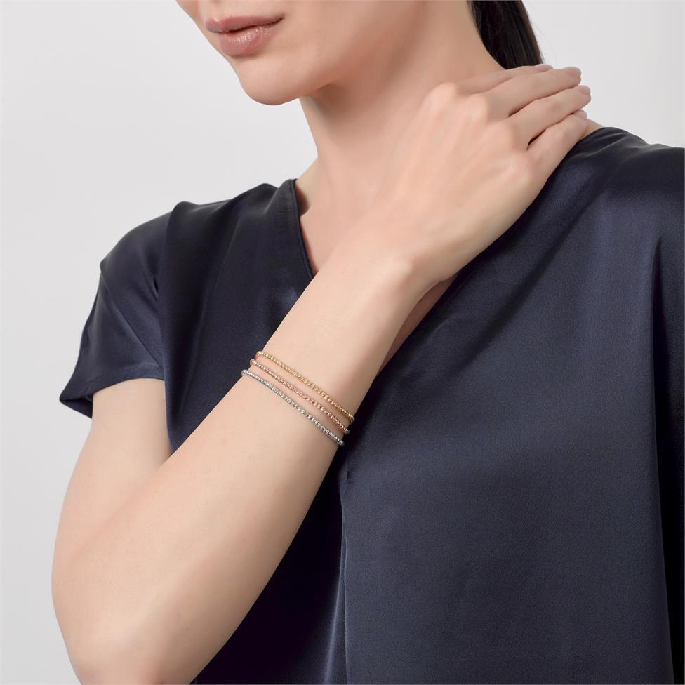18ct White Gold Faceted Bead Detail Bracelet  Thumbnail Image 2