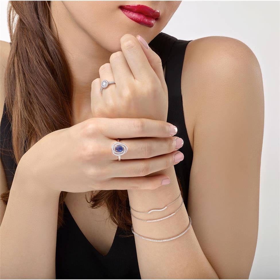 18ct White Gold Diamond Bar Bracelet 0.15ct Thumbnail Image 1