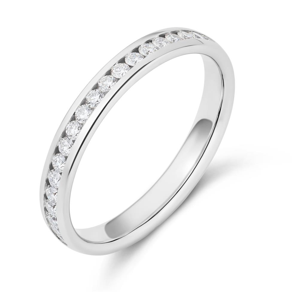Platinum Diamond Half Eternity Ring 0.23ct Thumbnail Image 0