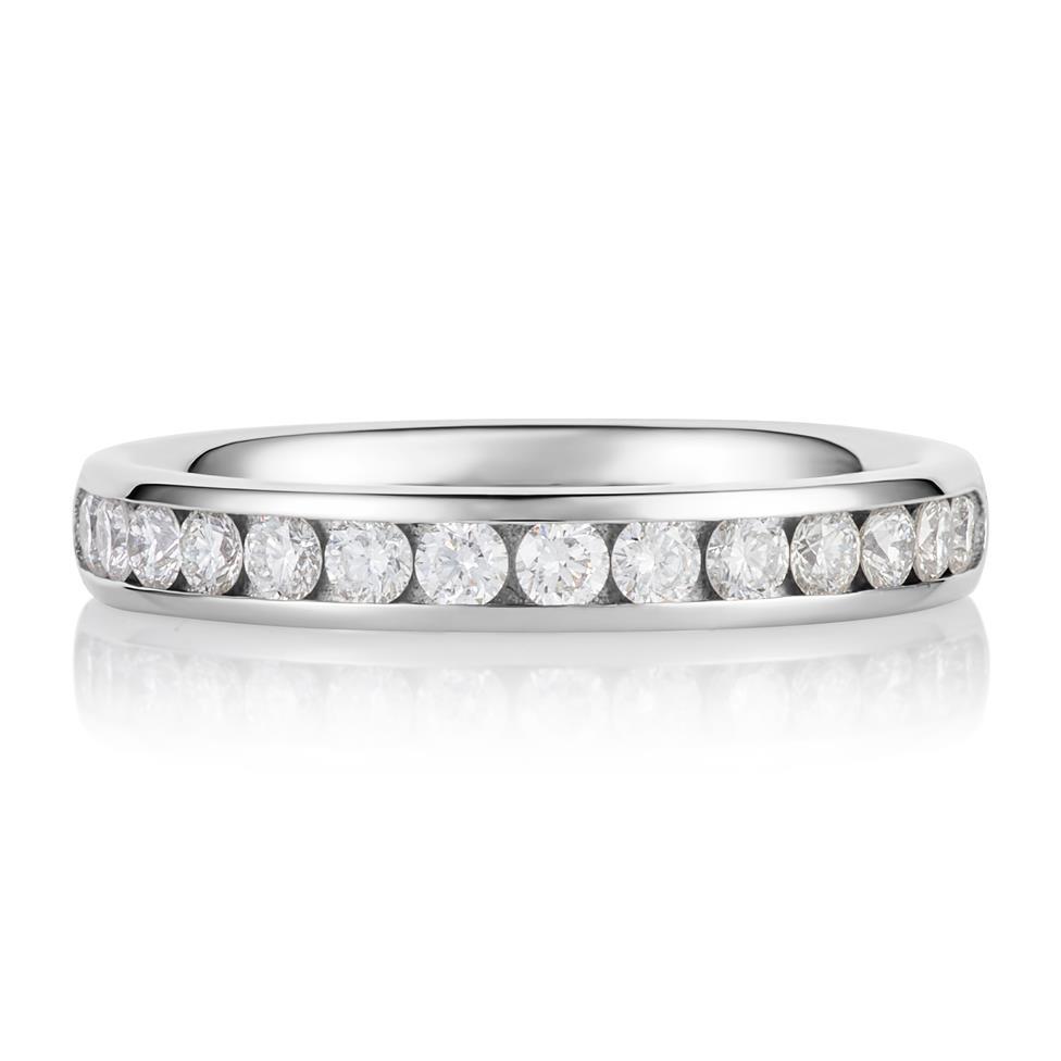 Platinum Diamond Half Eternity Ring 0.45ct Thumbnail Image 1